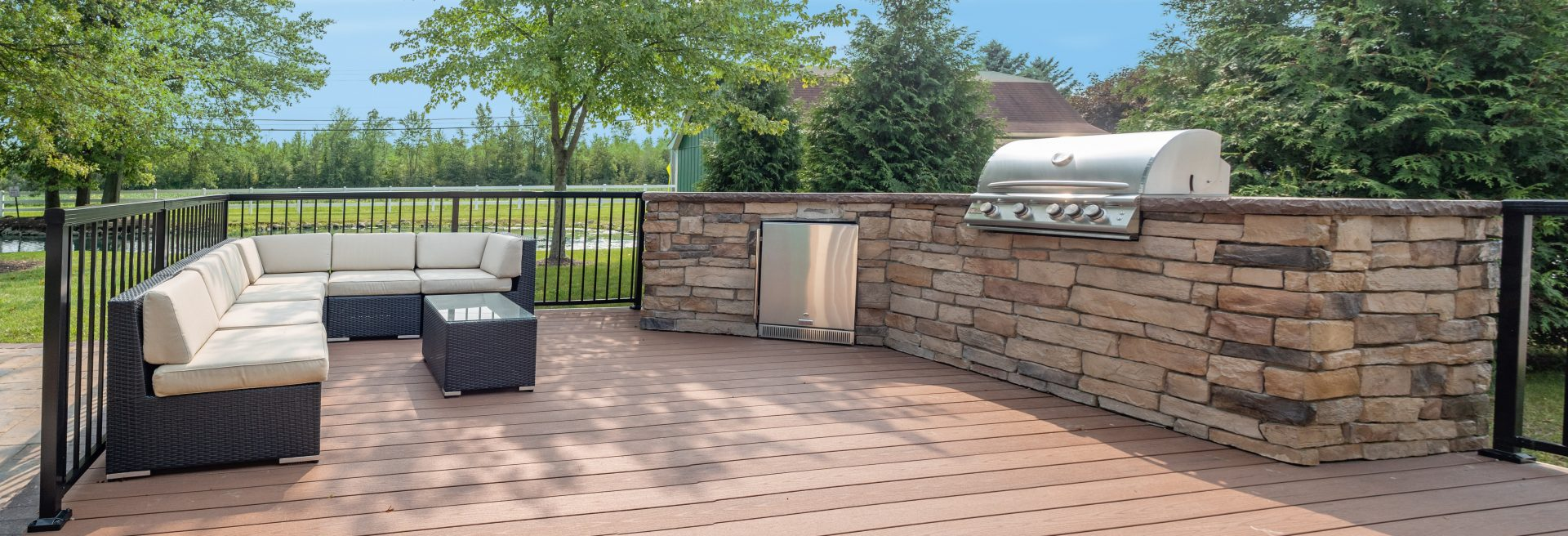 Retouch photo bbq grill patio